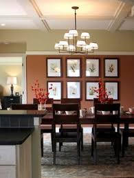 Bold And Modern Color For Dining Room Feng Shui Mediterranean Orange Walls The Of Accent Wall Is Benjamin Moore Baked Clay 035 Other Are In Hatha