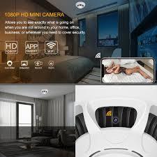 WiFi Spy Camera DetectorDigiHero HD 1080P Camera Smoke DetectorSecurity Camera With Live