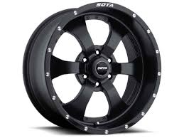 100 Truck Rims 4x4 SOTA Novakane 6 18x9 6x55 0mm Stealth Black Satin Black