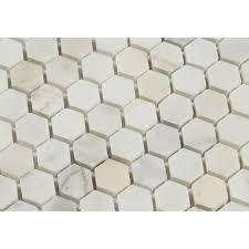 1 x 1 polished calacatta gold marble hexagon mosaic tile tilephile