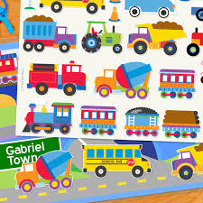 Trains, Planes & Trucks Personalized Kids Playmat - Art Appeel