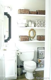 Storage Above Toilet Ideas Over Bathroom Cabinet Wood Fantastic Small Organizing Shelves