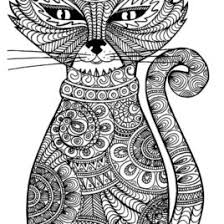 Print Adult Cat Coloring Pages Free Printable