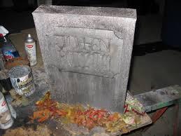 Diy Halloween Tombstones Cardboard by Dave Lowe Design The Blog 14 Days U0027til Halloween Fed Ex Box