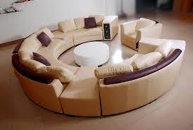 showroom canapé canapé d angle en cuir italien en rond design et pas cher modèle fleur