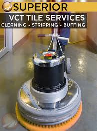 vct tile cleaning stripping and buffing