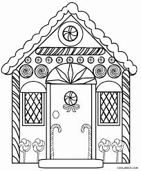 Simple Free Printable House Coloring Pages For Kids