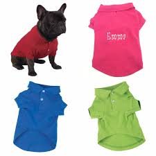 personalized polo dog shirt custom embroidered with pet u0027s name