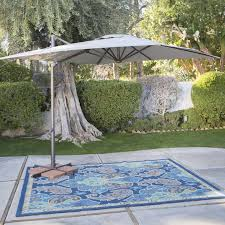 Solar Lighted Offset Patio Umbrella by Patio Square Offset Patio Umbrella Home Designs Ideas