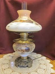 Ebay Antique Lamps Vintage by Antique Miniature Cranberry Glass Oil Kerosene Lamp Ebay
