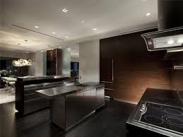 Las Vegas Apartment Kitchen Ideas Stainless Steel Island With Built In Sink Electric Cooktop Canopy Ranges Hood Dark Hardwood Floor Wall Wooden