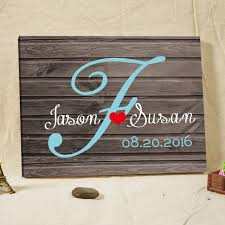 Rustic Wedding Guest Book Fingperint Tree Framed Wall Art Home Decorations Engagement Gifts Canvas Printing Supplies