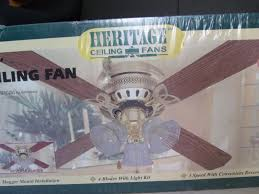 Honeywell Ceiling Fan Remote 40009 by Heritage 42 Ceiling Fan Light Kit 4 Wood Blades Polished Brass