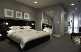 Luxury Picture Of Gray And White Bedroom Design Grey Interior