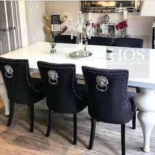 Velvet Dining Room Chairs 8 Empire Table Only Uk