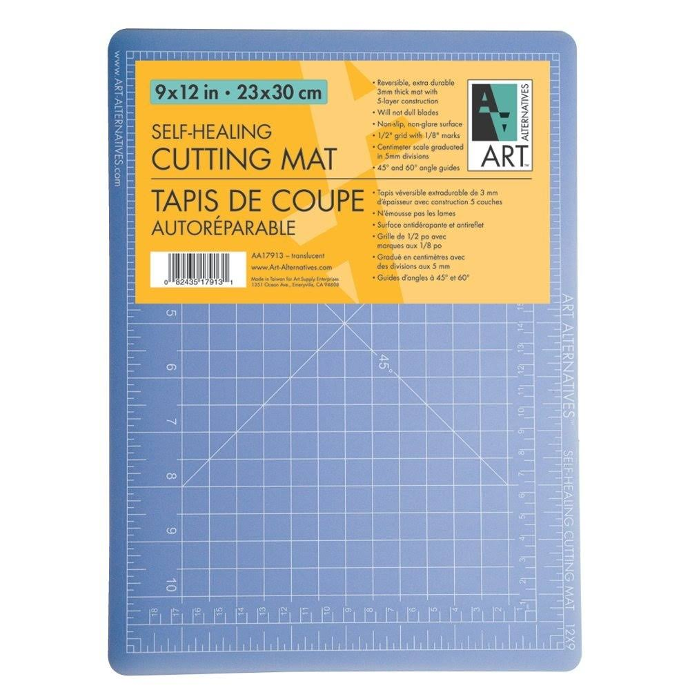 Art Alternatives Self-Healing Cutting Mat, 9 inch x 12 inch, Clear