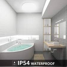 lighting 15w deckenle ip54 wasserfest badle 5000k led deckenleuchte 1250lm len ideal für badezimmer balkon flur küche wohnzimmer