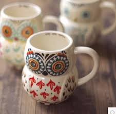 Cute Animal Coffee Mugs Free Shipping Hot Owl Ceramic Mug Cups Design On