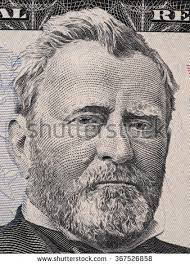 US President Ulysses Grant Portrait On Fifty Dollar Bill Macro United States Money Closeup