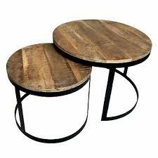 couchtisch 2er set beistelltisch wohnzimmer tisch rund