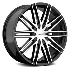100 Helo Truck Wheels HELO HE880 Gloss Black With Machined Face Rims