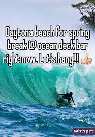 beach for spring break ocean deck bar right now let s hang