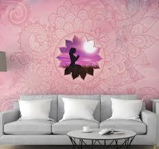 rosa mandala zen wandtapete
