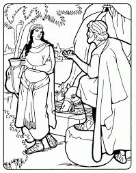 Images For Gt Isaac And Rebekah Coloring Pages 262165 Jacob