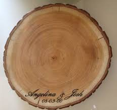 Wedding Cake Stand Wood Centerpieces For Weddings Engrave Names Date