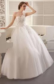 2015 ball gown wedding dress one shoulder princess charming white