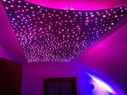 sternenhimmel led set beleuchtung in glasfaser optik 400 lichtfasern 1 0mm inkl projektor funkfernbedienung für farbwechsel 12 watt