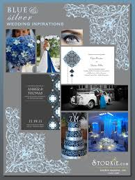 Blue And Silver Inspirations Wedding