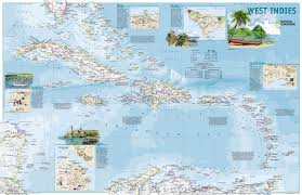 Travelers Map Of The West Indies Side Two