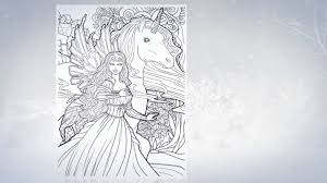 Magical Unicorns And Fairies Adult Coloring Book Video Trailer Really Pretty Pages