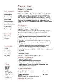Territory Manager Resume Regional Job Description Sample Example Template Sales Marketing
