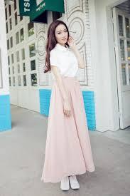 wholesale 2016 new spring summer skirts women chiffon long skirt