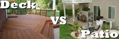 The Great Debate Deck Versus Patio