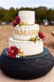 Vintage Outdoor Wedding Cake Tire Stand Weddings