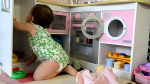 baby s new kid kraft grand gourmet corner kitchen youtube