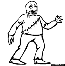 Halloween Creature Costume Online Coloring Page