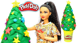 Play Doh Christmas Tree How To Make Barbie Xmas With Easy Creative Fun For Girls