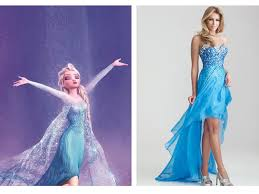 6 prom dresses inspired by disney princesses high low prom