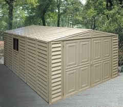 Tractor Supply Storage Sheds by Duramax 10 U0027 X 30 U0027 Vinyl Garage Storage Shed With Foundation Kit 01616