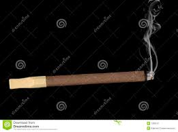 lit cigar isolated on black royalty free stock image image 7269276
