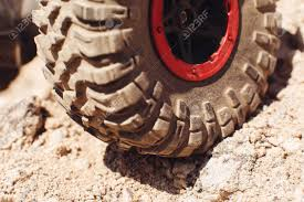100 4x4 Truck Tires Closeup Of Tire On Rock Track SUV Wheel Roading Offroad