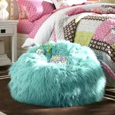 Furry Bean Bag Chair Deep Pool Fur Beanbag Cover