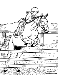 How About Some Horse Sports Coloring Pages To Send Your Sponsored Child