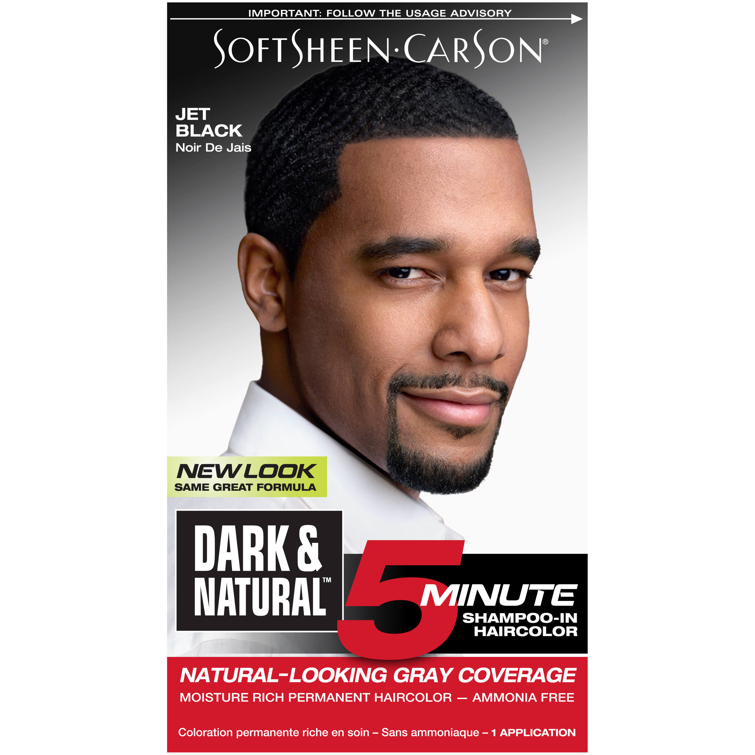 Softsheen Carson Dark and Natural 5 Minute Permanent Hair Color Kit - Jet Black