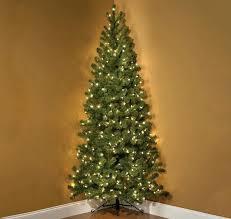 Pre Lit Colored Christmas Trees 7 Foot Corner Tree 75 Multi