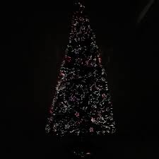 6ft Fibre Optic Christmas Tree Black by Werchristmas 6 Ft Pre Lit Multi Colour Fibre Optic Christmas Tree